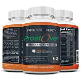 ProstOver - Saw Palmetto Prostate Supplement for Men, 30 Herbs, Vitamin, Minerals, to Help Prostate Health, Maintain Normal Urination Frequency, Natural DHT Blocker, Help Prevent Hair Loss 60 Capsules