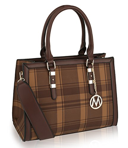 NOTE: This bag is part of the MKF Collection by Mia K and has no association with Mia Farrow: CASUAL & STYLISH. The Miley structured bag is stylishly casual for work with M charm and gold-toned hardware. Choose a color that matches your dress or outf...