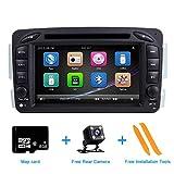 """ZLTOOPAI para Mercedes Benz W209 W203 W163 W163 Viano W639 Vito Series Vaneo Doble Unidad de Cabeza DIN 7""""Pantalla Radio para Auto GPS Estéreo con Tarjeta de Mapa Gratis cámara de Vista Trasera"""