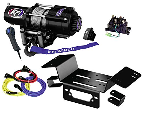 KFI Combo Kit - U45-R2 4500lbs Winch, Mount Bracket, Wiring, Switches, Remote Kit - Compatible/Replacement for 2014-on Honda Pioneer SXS 700 & SXS 700-4