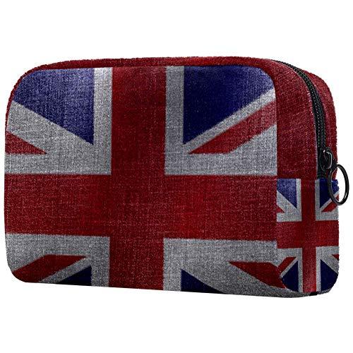 Make-up-Tasche mit britischer Flagge, Kulturbeutel für Damen, Hautpflege, Kosmetik, Handtasche mit Reißverschluss