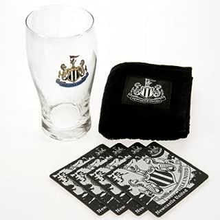 Newcastle United F.C. Mini Bar Set 1 X Pint Glass 4 X Beer Mats 1 X Beer Towel