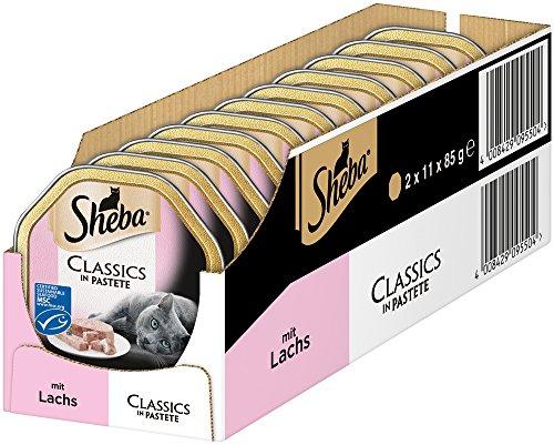 Sheba Classics in pasta, kattenvoer als pasta met fijne stukjes, voor elke dag