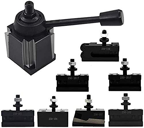 """discount AXA 2021 Size 250-111 Wedge outlet sale Type Tool Post Set for Lathe 6-12""""+2 Extra XL Tool Holder sale"""