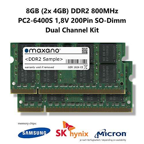 Maxano DDR2 800MHz SO Dimm - Memoria RAM 8GB (2X 4GB)