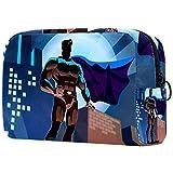 Bolsa de maquillaje personalizada para brochas de maquillaje, bolsa de aseo portátil para mujeres, bolso cosmético, organizador de viaje, superhéroe On Urban