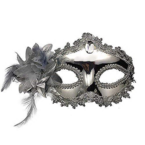 Máscara veneciana negro / blanco para mujer - Perfecto para carnaval, carnaval y baile de disfraces - Disfraz adulto - Unisex Talla única #47