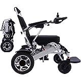 "AIRPUMP Lightweight Folding Electric Wheelchair, Dual""500W""Motors, All Terrain, Dual Battery Portable..."