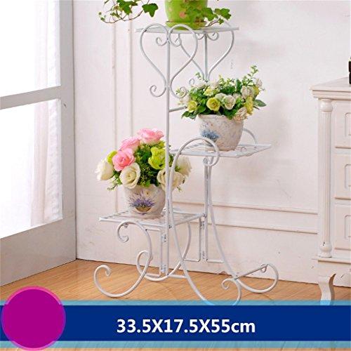 FZN Fer Fleur des étagères Sol Flower Pots Style européen intérieur et extérieur Salon Balcon Plusieurs Couches Fleur étagère décoration Pots de Fleurs (Couleur : #8)