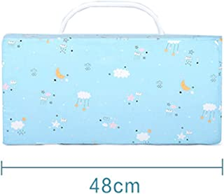 JYW-coverS Toddler Bed Rail Guard,Anti-Fall Multifunction Splice Memory Foam Sleeping Bed Fence Toddler Bed Rail, for Bed Sofa,Blue,48cm