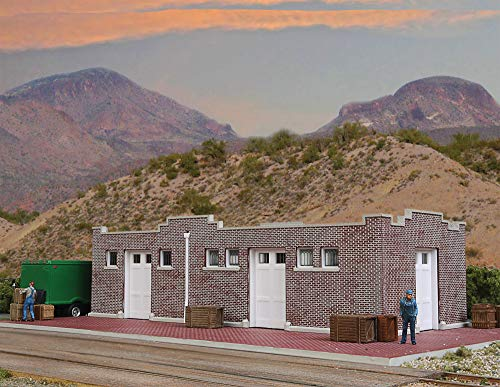 Spur HO -- Bausatz Bahnhof Depot Santa Fe Güterschuppen