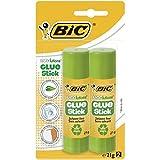 BIC ECOlutions Barras de Pegamento – 21 g, Blíster de 2 unidades