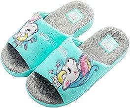 Anddyam Kids Family Unicorn Slippers Household Anti-Slip Indoor Home Slippers for Girls and Boys (12.5-13.5 Little Kid), Blue