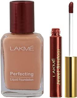 Lakme Perfecting Liquid Foundation, Pearl, 27ml & Lakme Jewel Sindoor, Maroon, 4.5ml