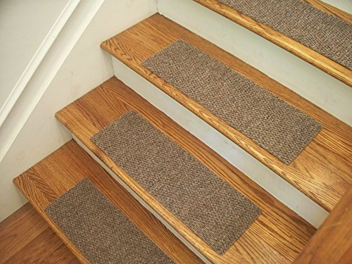 Essential Carpet Stair Treads - Style: Berber - Color: Beige Gray - Size: 24