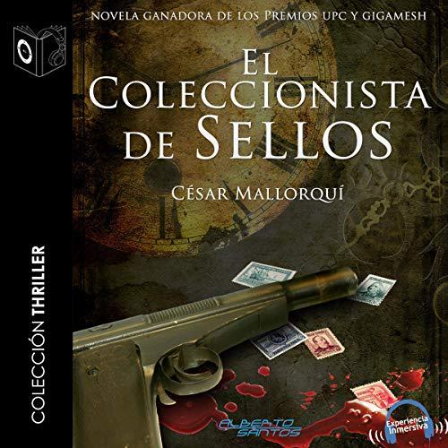Diseño de la portada del título El coleccionista de sellos
