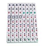 URNOFHW Mahjong Chino Juegos de Mesa Familiares portátil Mahjong Set Chinos Antiguos Juego de Mahjong Juegos Familiares (Color : As Shown)