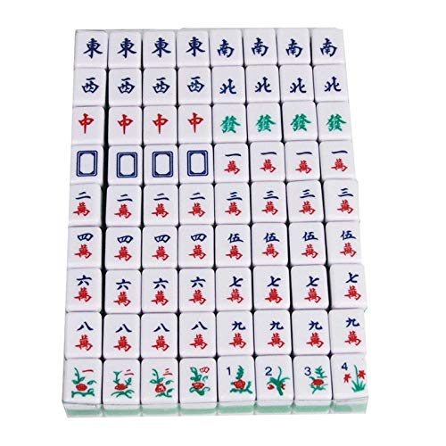 URNOFHW Mahjong Chinese Familie Brettspiele Tragbare Mahjong Set Chinese Antique Mahjong Spiel Familienspiele (Color : As Shown)