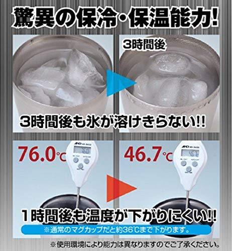 山善タンブラー250ml小さめ真空断熱ステンレスITD-250(MT)