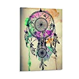 YuFeng_Art_Inn Hang A Picture Wallpaper Abstract Doodle Wind Chimes Room Decor Wall Decor Paintings Frame-style1 12×18inch(30×45cm)