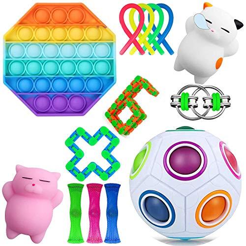 Wbeng Sensory Toys Set, 14-teiliges Fidget Spielzeug für Kinder und Erwachsene, lindert Stress und Angst.