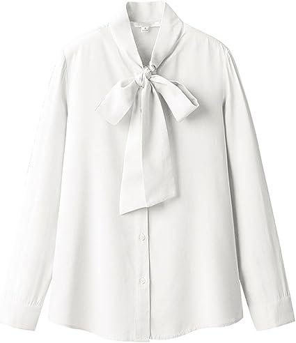 LI SHI XIANG SHOP Camisa de Manga Larga de Blusa de Corbata ...