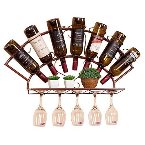 Hyy-yy - Estante de vino para vino de madera con bastidores de vino, listo para instalar, montaje de mesa, de pie, 8 plegables; 9 veces; 9 pulgadas para el hogar