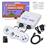 Retro Game Console,Built-in 821 Classic Super NES Game with 2 SNES Controllers, HDMI HD Output, Gift for Kids Adults,Mario/Street Fight/2 Player.