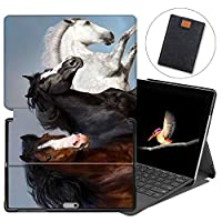 MAITTAO Case For Microsoft Surface Go 2018, Folio Smart Stand Cover with Pen Holder for Surface Go 10-inch Tablet Sleeve Bag 2 in 1, Compatible with Type Cover Keyboard, Akhal-Teke Horse 18
