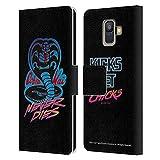 Head Case Designs sous Licence Officielle Cobra Kai Never Dies Logo Art Clé Coque en Cuir à...