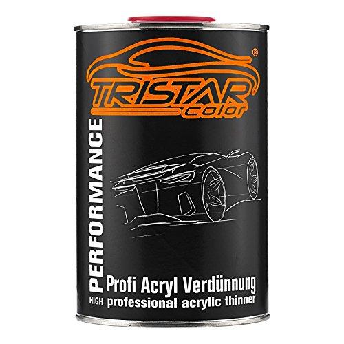 TRISTARcolor 1 Liter 1K / 2K Acrylverdünner Acrylverdünnung für Autolack Basislack Klarlack Grundierung