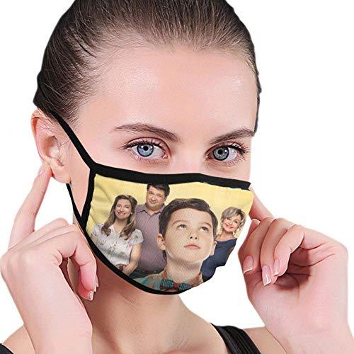 Preisvergleich Produktbild fishappleeatall Young-Sheldon Gesichts-Bandanas mit schwarzem Rand,  verstellbar,  halbe Gesicht,  Mund und Nase,  für den täglichen Gebrauch
