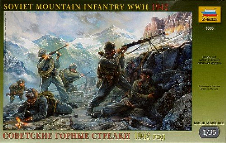 Soviet Mountain Infantry WWII (6) 1 35 Zvezda