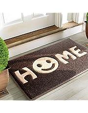 Alfombrilla Sweet Home de Mrs Sleep, para puerta de entrada, diseño de cara sonriente, antideslizante, lavable,