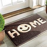 """Mrs Sleep zerbino di benvenuto con stampa della scritta """"Home"""" con smile, tappeto per ..."""