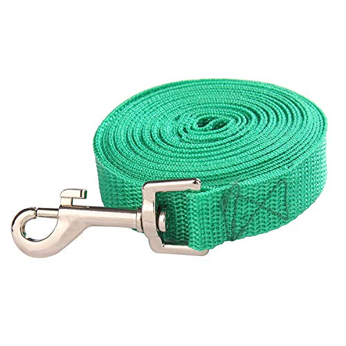 Theoutgoing Nylon Leash Pet Dog Leash for Small Medium Dogs Cats Puppy Walking Running Leashes Lead Pet Supplies-1.5M 1.8M 3M 4.5M 6M Length-Green-4.5M