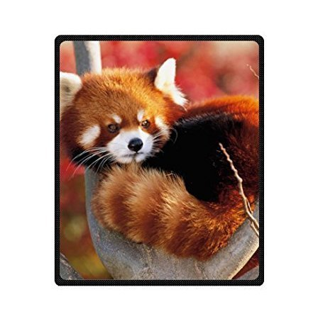 YISUMEI Decke 150x200 cm Kuscheldecken Sanft Flanell Weich Fleecedecke Bettüberwurf lustiger süßer roter Panda