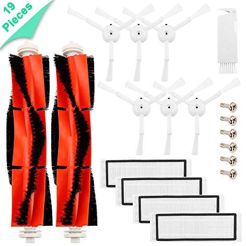Kit di accessori per XIAOMI MI aspirapolvere robot- 6 Spazzola laterale 4 HEPA Filter 2 Spazzola principale 1 Strumento di pulizia, Parti di ricambio per MI robot Mijia Roborock S50 S51 Robock 2