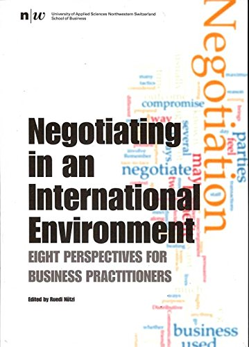 Negotiating in an International Environment: Eight Perspectives for Business Practitioners