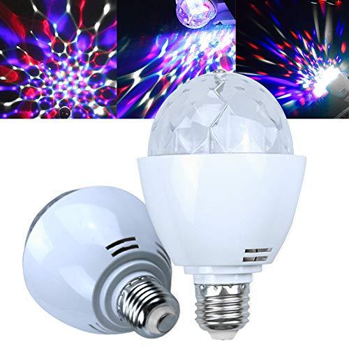 LED-Leuchtmittel, drehbar, für Disco DJ, Bühne, LED, bunt, 360 Grad drehbar, für Partys, Clubs, Bars und Zuhause (E27)