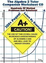 Algebra 2 Tutor Companion Worksheet