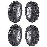TDPRO 4pcs ATV Tires 16X8-7 Tubeless Go Kart UTV Quad Bike