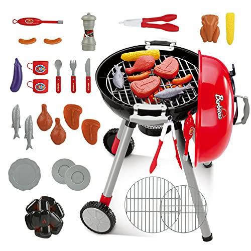 LIHAO 21tlg Grill Spielzeug Kinder-Grill Barbecue Kugelgrill für Kinder mit Licht und Ton