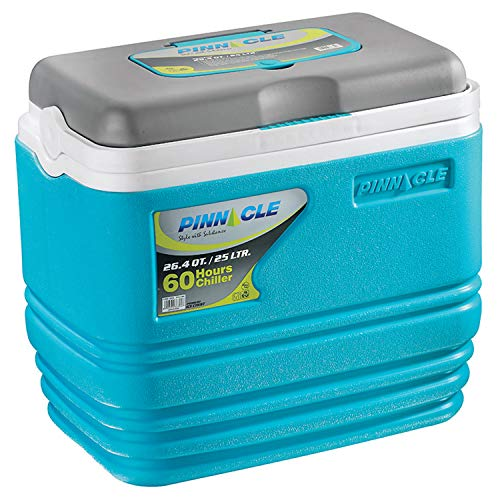 Pinnacle Primero Ice Cooler Box, Keeps Cold Upto 72 Hours (25 Litre, Blue)