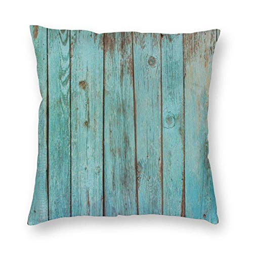 JONINOT Plank Square Cushion Cover Standard Pillowcase 18'x 18' for Home Bedroom/Living Room/Car