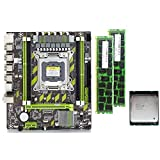 Vaorwne X79 X79G Motherboard Set with LGA2011 Combos Xeon E5 2620 CPU 2Pcs