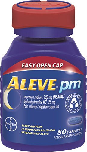 Aleve PM Easy Open Caplets, 80 Count