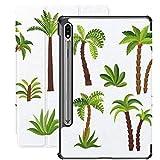 Funda para Galaxy Tab S7 Funda Delgada y Ligera con Soporte para Tableta Samsung Galaxy Tab S7 de 11 Pulgadas Sm-t870 Sm-t875 Sm-t878 2020 Release, Set de Palmeras Decorativas