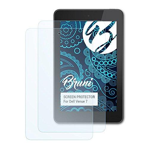 Bruni Schutzfolie kompatibel mit Dell Venue 7 Folie, glasklare Bildschirmschutzfolie (2X)
