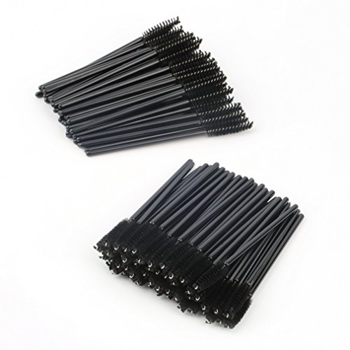 100 PCS jetable Wimper Mini Brosse Mascara Mur Appliquant Mascara Maquillage noir